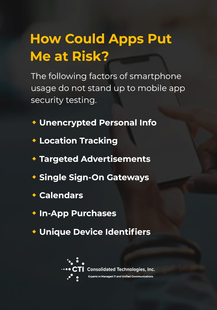 how could apps put me at risk