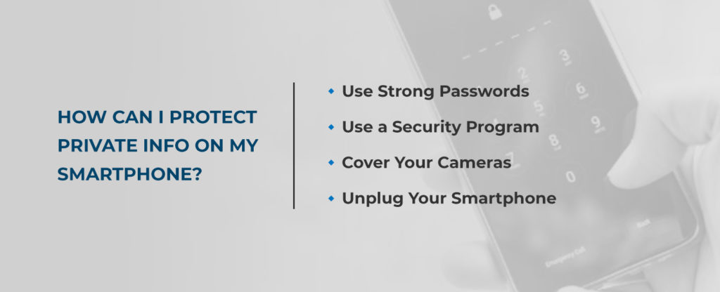 how can i protect private info on my smart phone